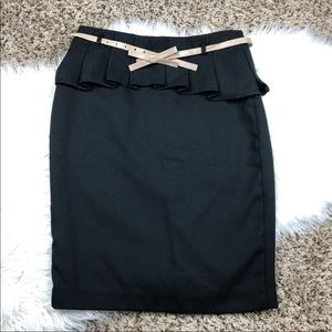 The Limited Black High Waisted Skirt